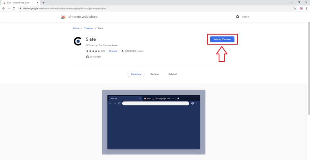 Chrome Slate Theme