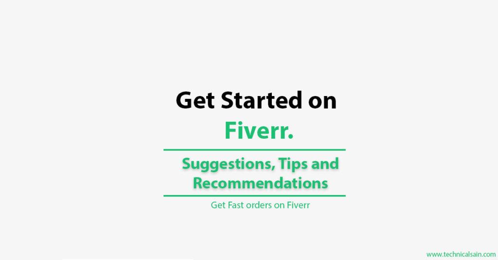 Get started on Fiverr
