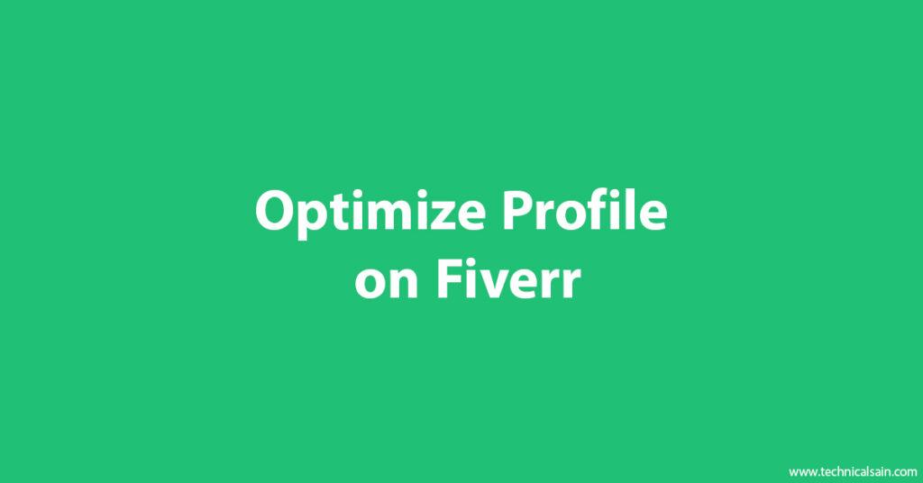 Optimize Profile on Fiverr